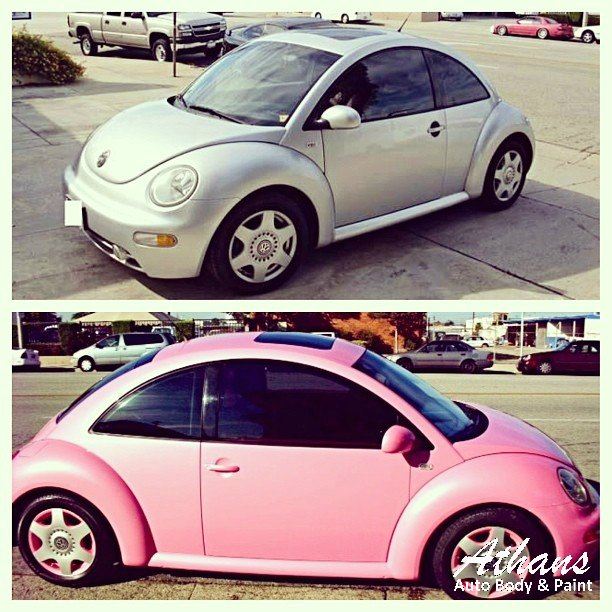 Volkswagon-pink-before-and-after