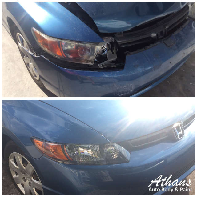 Honda civic collision repair athans auto body paint for Honda car repair