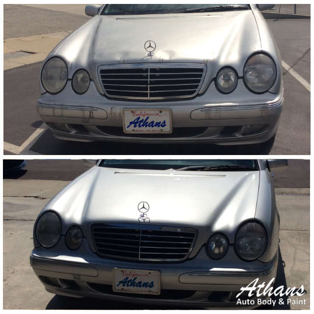 Mercedes Before And After Auto Body Paint Job Athans Auto